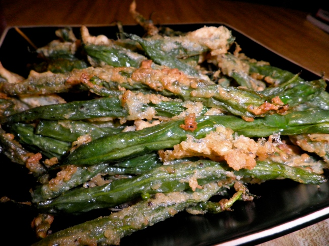 Green bean fries: final product! Review = D-lish!