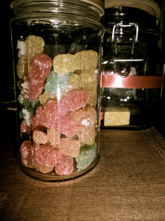 Aaaaaand here's some random Sour Patch Kids that I put in a jar :)