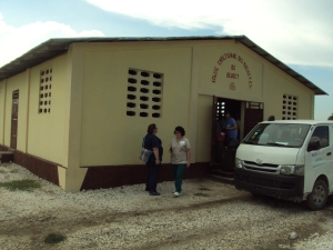 This is what most of the church buildings looked like that we had clinics in.
